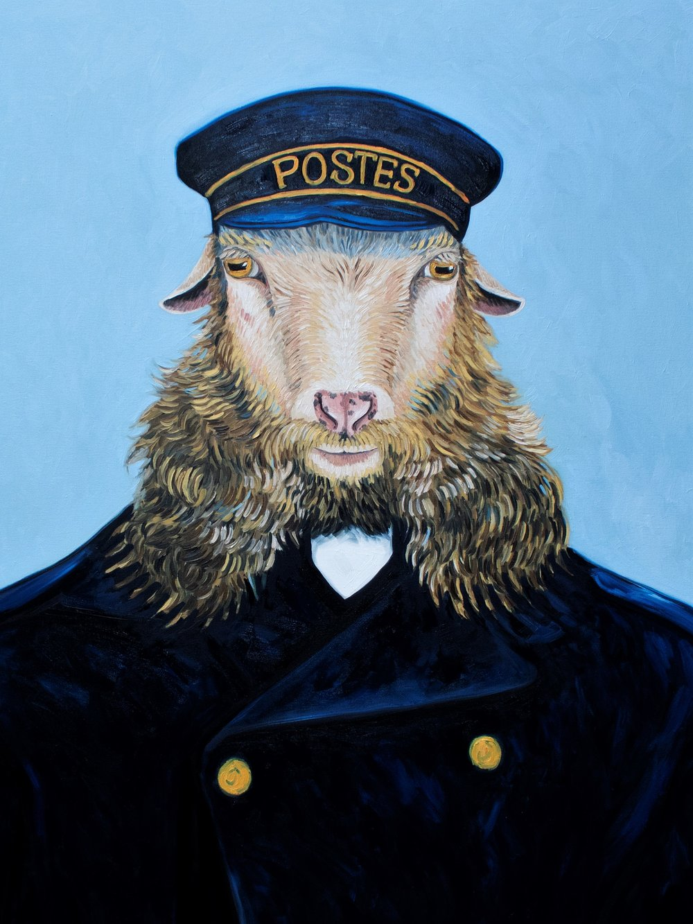SOLD /// Portrait of the Postman I: Joseph Roulin •48 x 36 • oil on canvas • $4,500