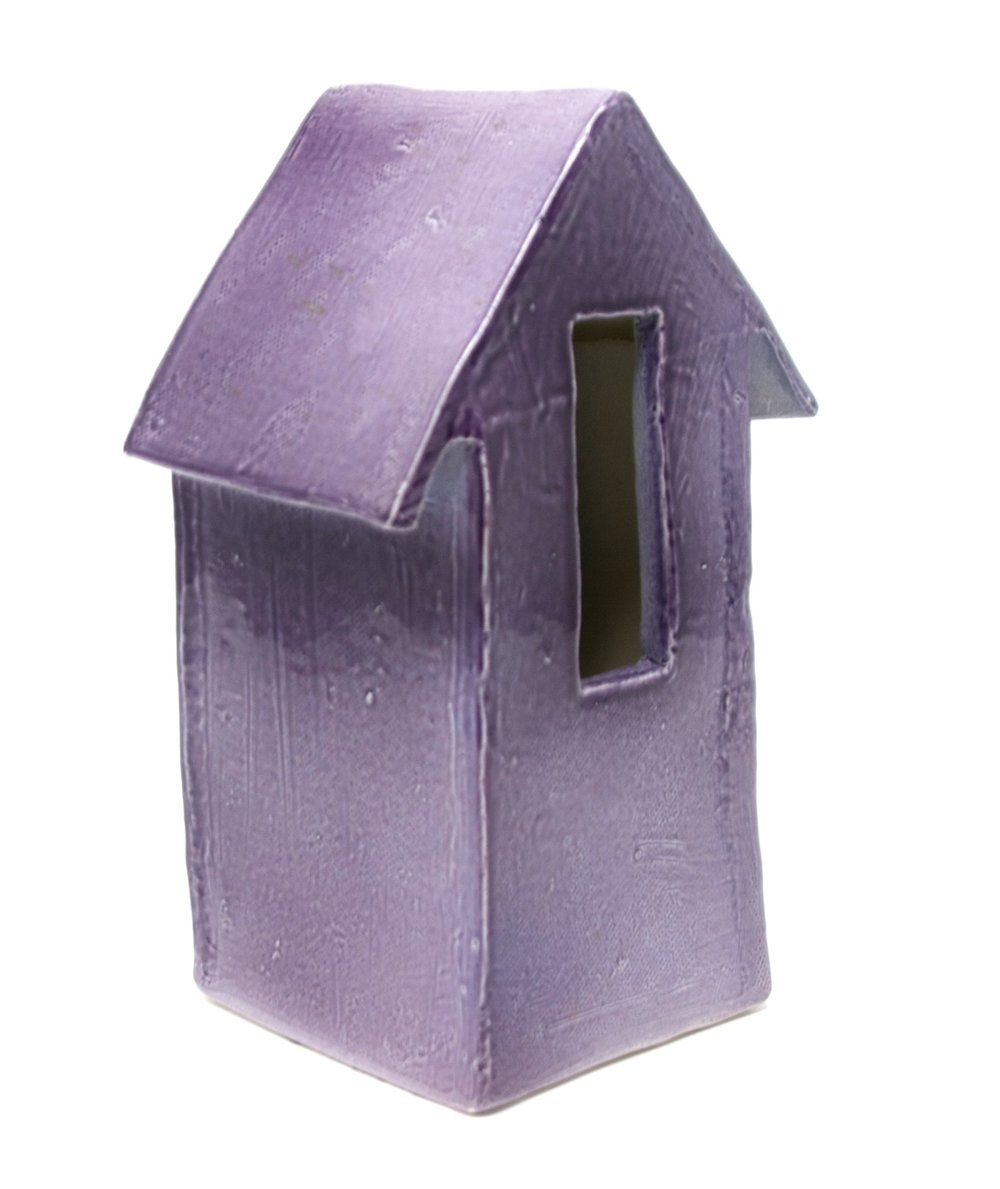 PUPLE GLAZE   • 3  X 3.5 X 7.25  • CERAMIC •  $150