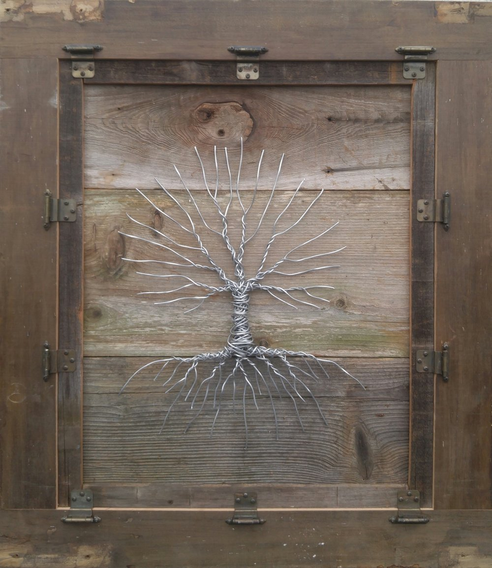 Unhinged 2   38 X 33 • wood, wire, hinges   $745