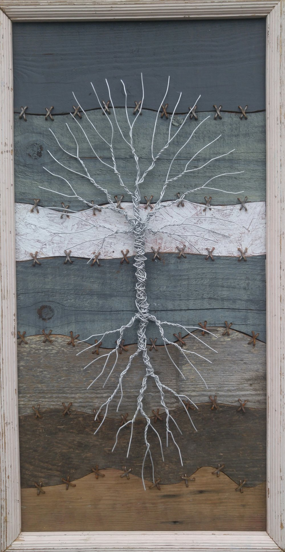 SOLD /// The World is Broken • 38 X 20 • wire, wood