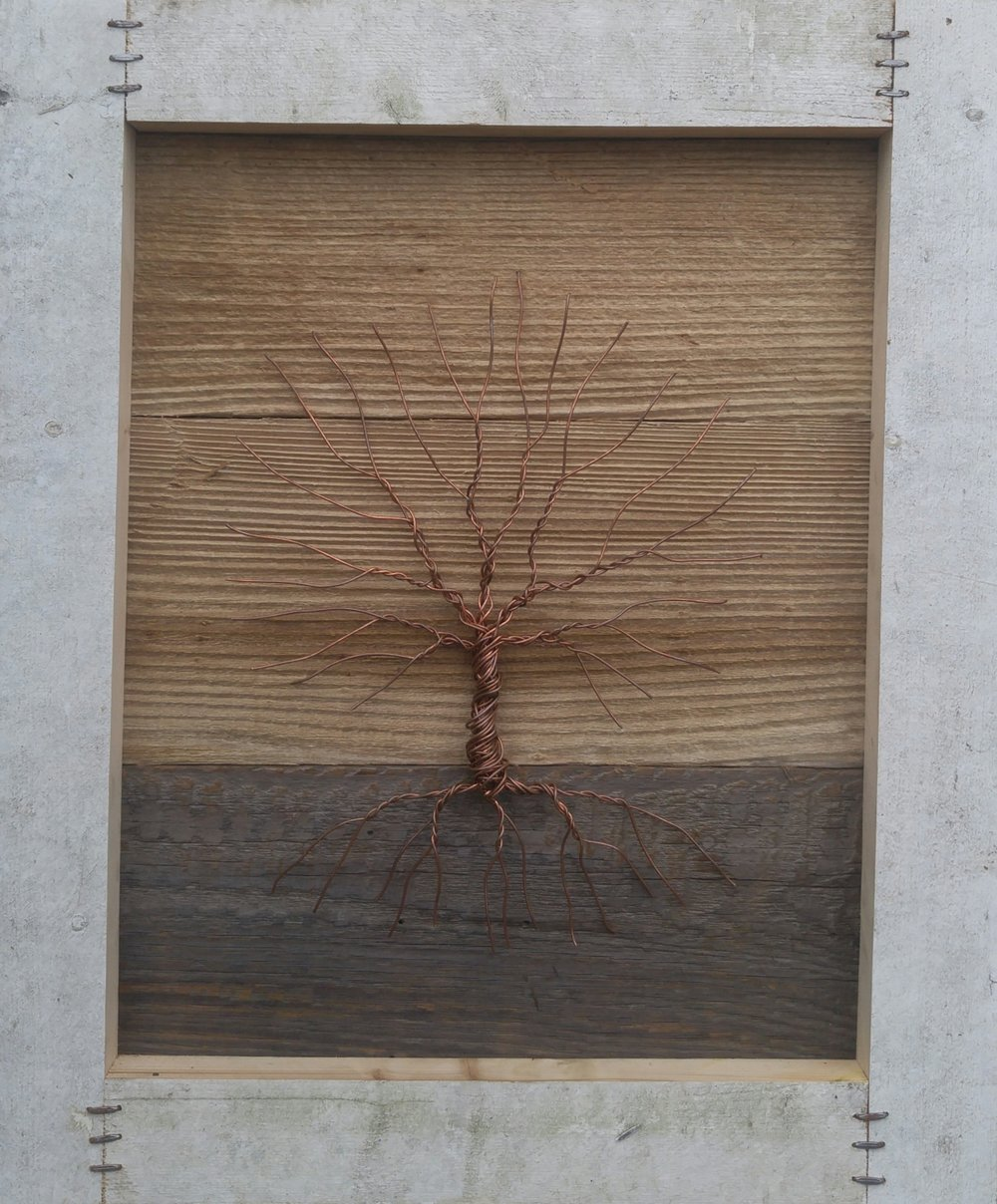 Tree 21   26 X 22 • wood, wire   $395