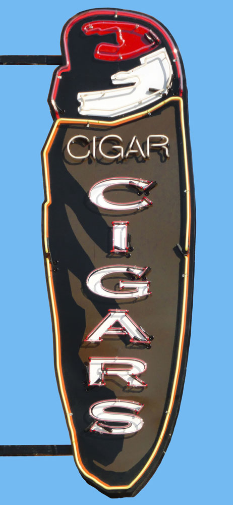 SOLD (prints available) ///  Cigar! Cigar!  • 26 X 12 • limited edition print on canvas, resin •  $450