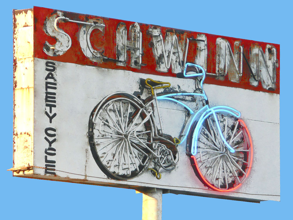 Schwinn Safety Cycle  • 15 X 20 • limited edition print on canvas, resin •  $450