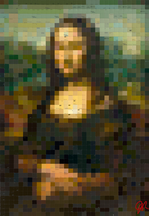 Mona Lisa II  • 48 X 33 • limited-edition print, texturized with gel medium