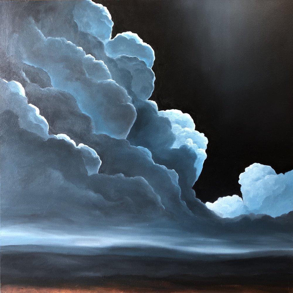 Rolling Clouds  • 36 X 36 • oil on canvas