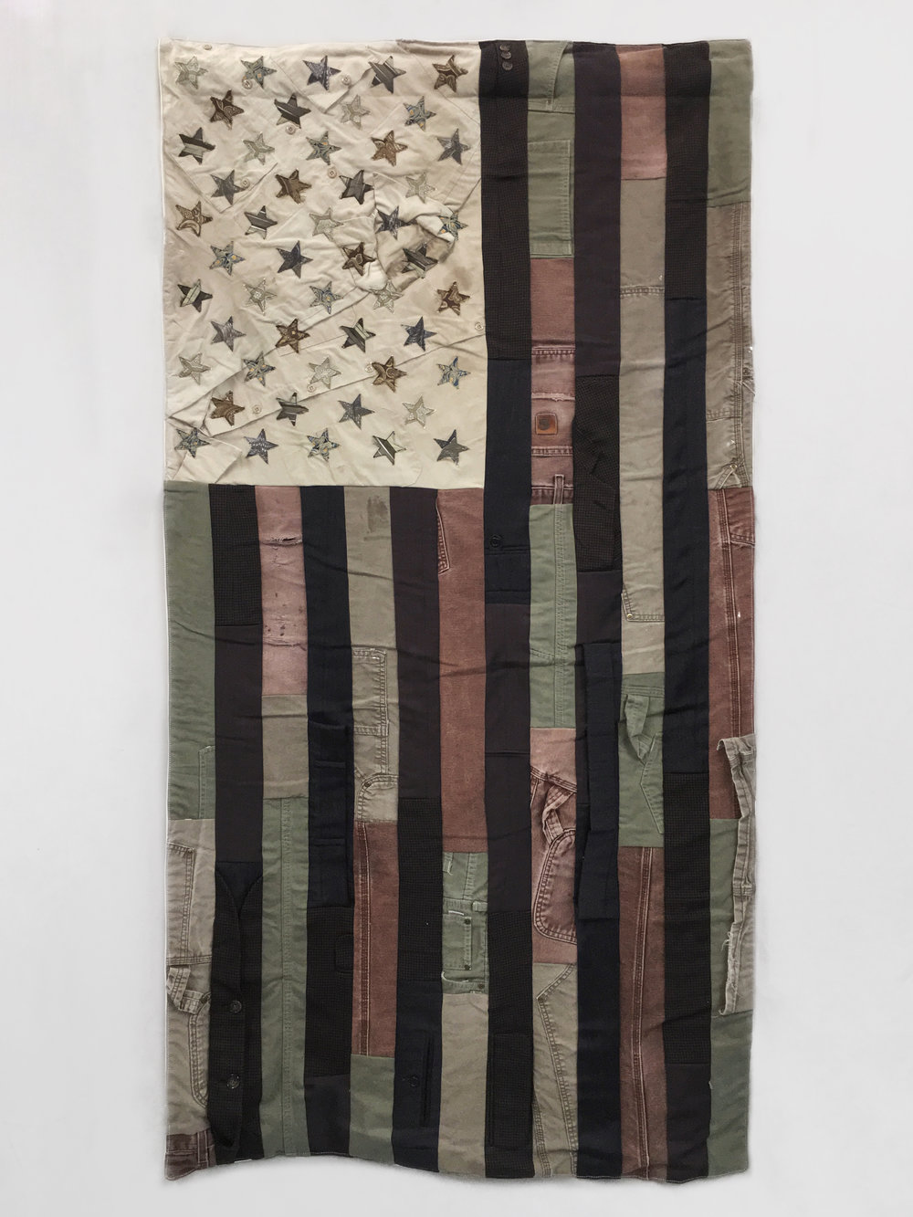Flag #6   68 X 36 • Carpenter's Pants, Suits, Collared Shirts, Neckties  $4,000