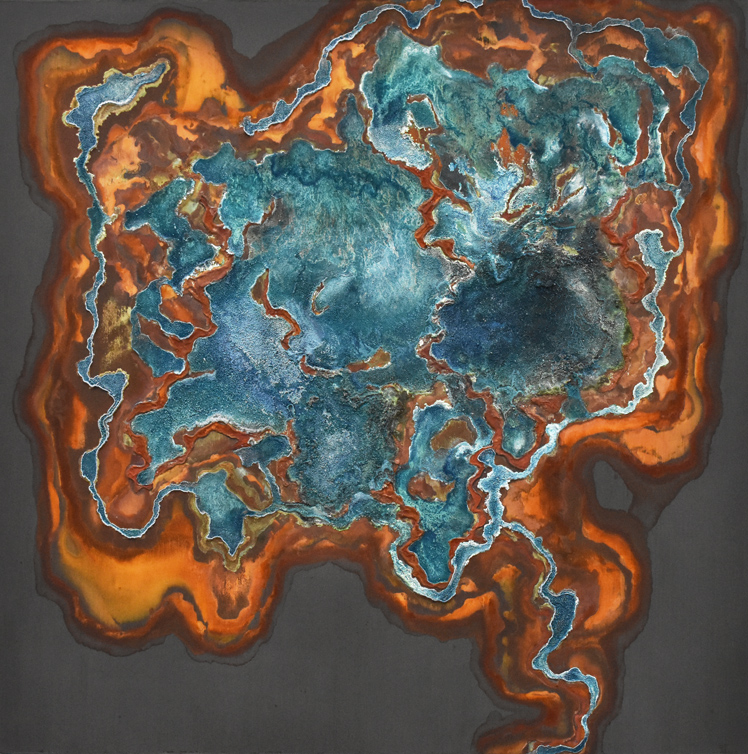 Pyrochlore   48 X 48 • mineral on panel