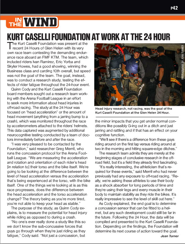 Kurt Caselli Foundation At Work At The 24 Hour