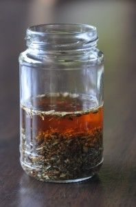 So this isn't mine… but it's from a website that inspiring me to consider making my own tinctures! Check out  Radical Homestead.