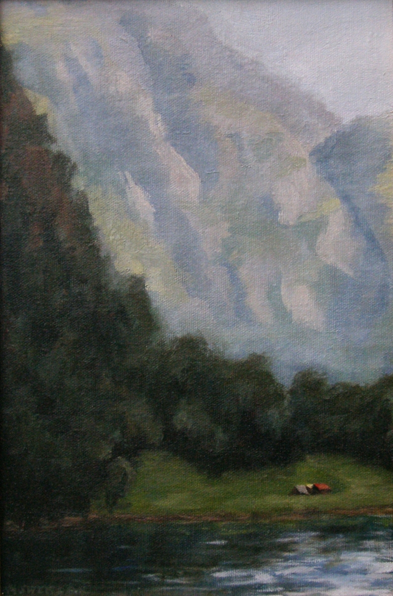 Norse Reverie,  Mackenzie's painting awarded 1st in the 2010 Phipps Center for the Arts High School Competition