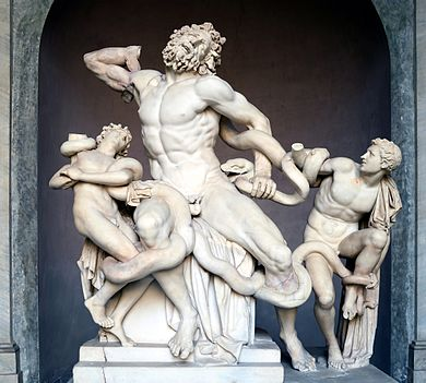 "The ""Laocoön and His Sons"" original sculpture located in the Vatican."