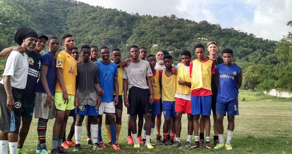 Top Training - The Papine High School U-19 Boys received exceptional training led by Brian Williams, head coach of the Trinidadian U-20 National Team. The U-15's experienced a Barcelona-style training led by Coaches Dave Linton and Christian Garcia.