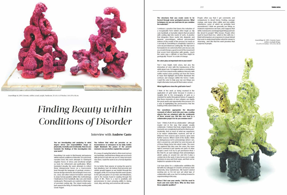 Ceramics Now, Issue 3, Summer 2015, Interview with Vasi Hirdo.