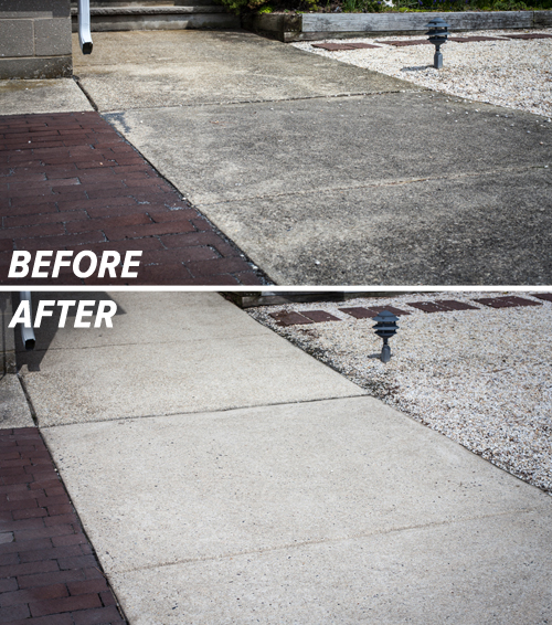 Click To enlarge   Check out this before and after photo of this sidewalk. Let us know we did!