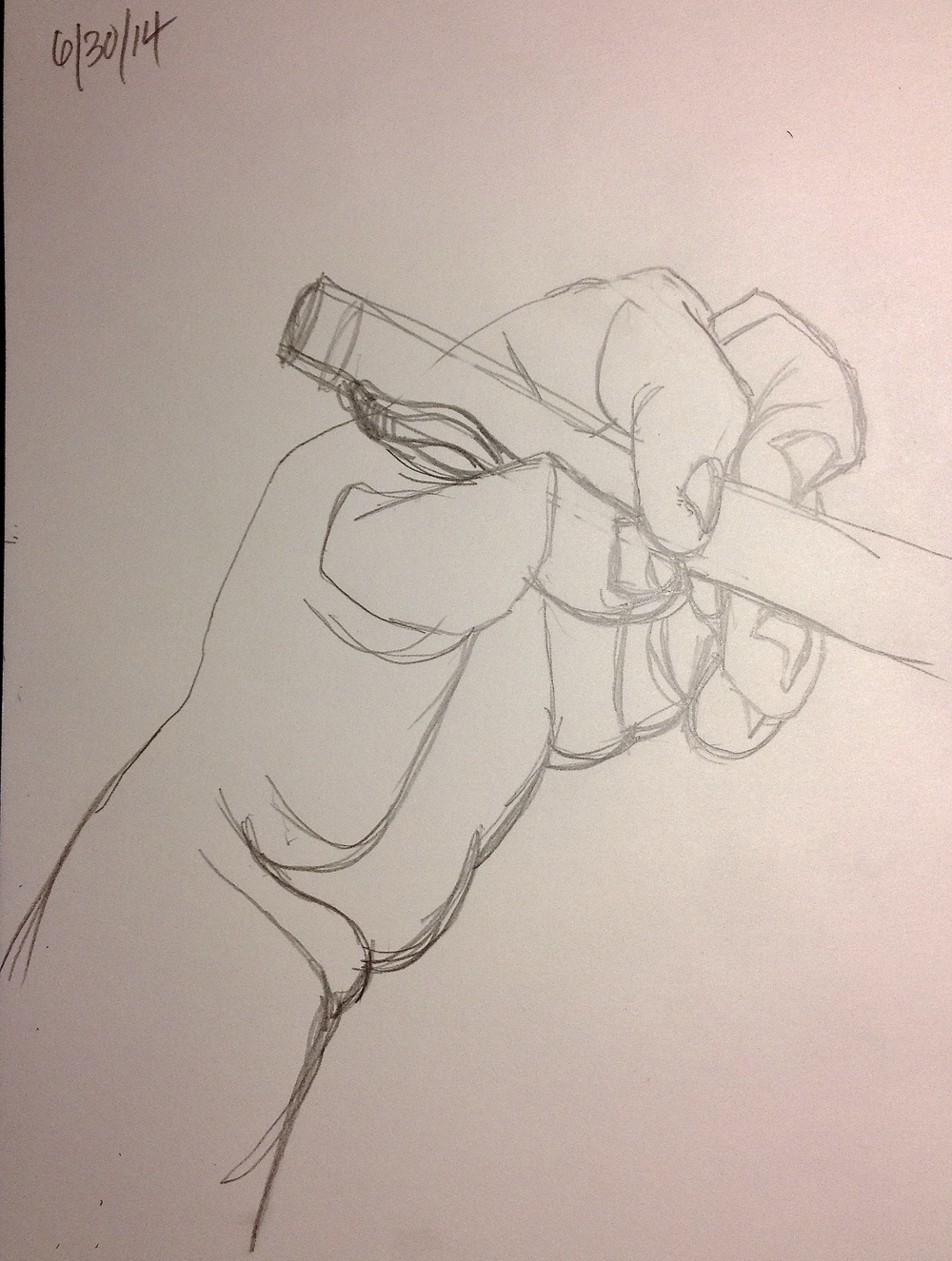 Old favorite subject. You can never draw hands too much.