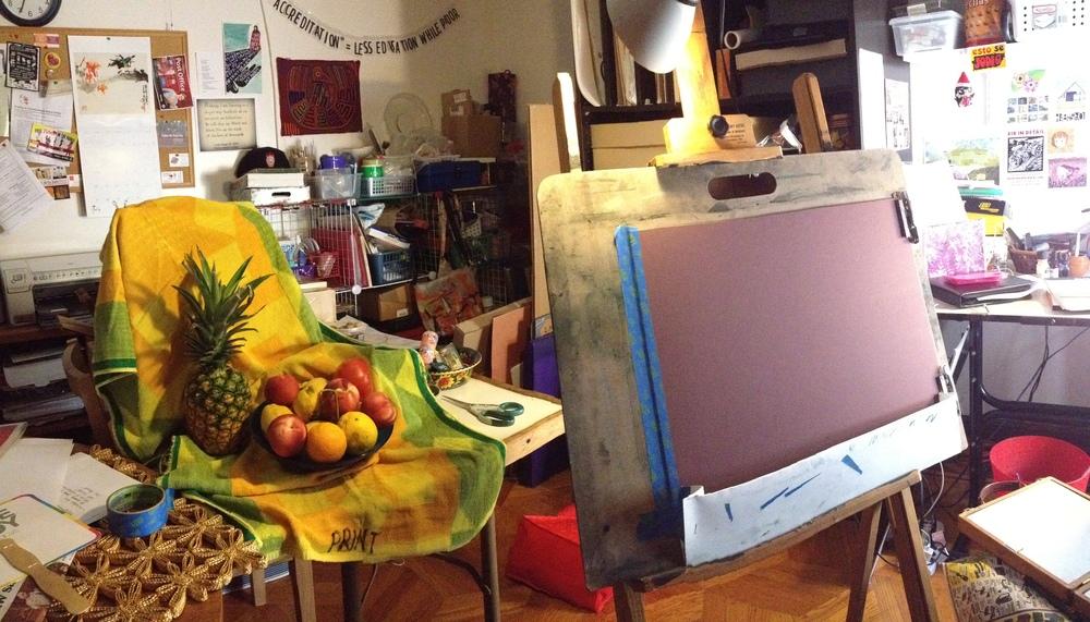 Studio setup, ready to work...