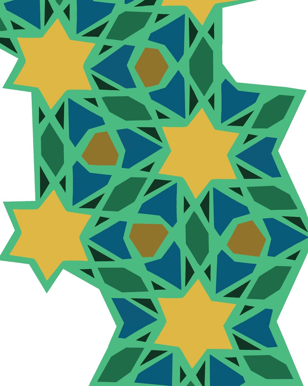 Here's the pattern I made in the ipad. It's inspired by the amazing geometric patterns found in Islamic architecture. You can see what i mean here: http://tinyurl.com/lkg75mf
