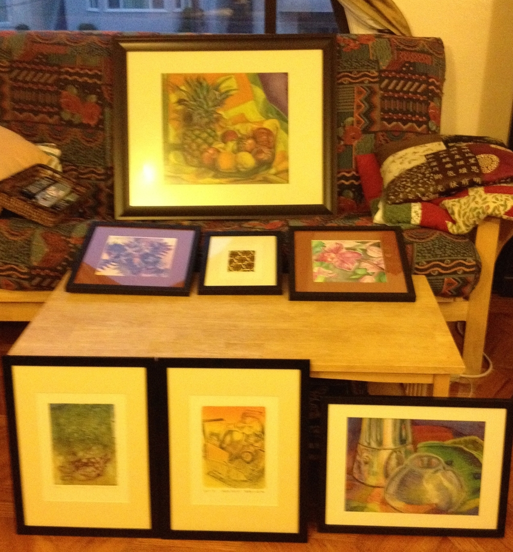 A very, very bad picture of work framing in progress... But you get the idea: busy, busy, busy...