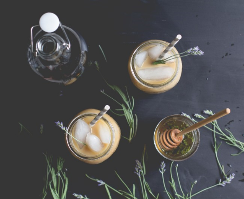 even though it's probably going to be snowing in colorado tonight, i'm hoping we'll sneak in just one more warm day before cold weather season hits so i can make this lavender honey iced latte from offbeat & inspired.