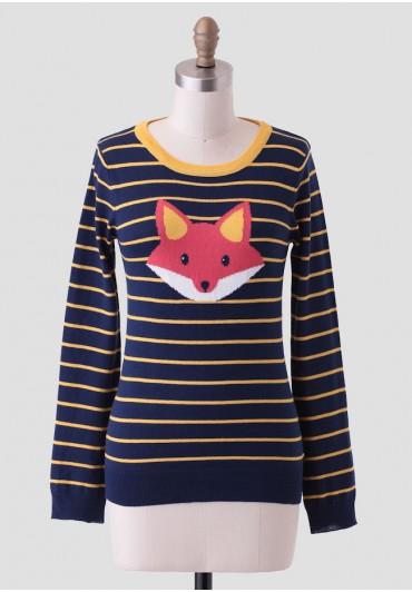 folklore striped fox sweater