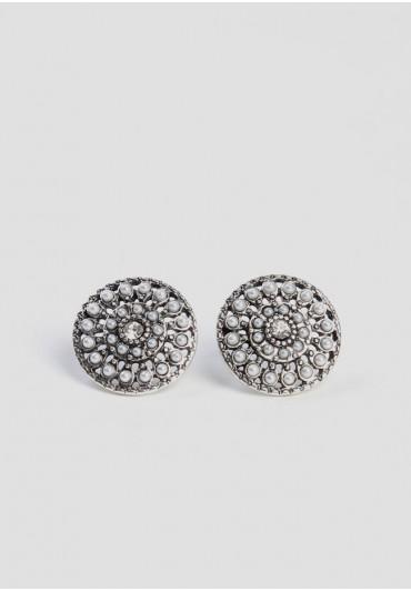cavalier medallion earrings