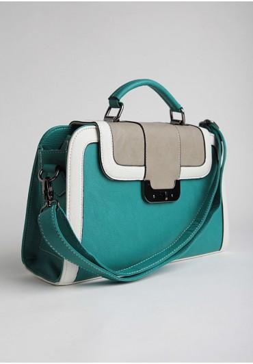 britannia park colorblock satchel