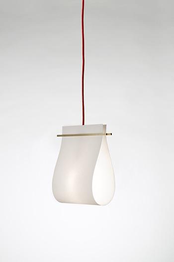 pendant light from white wood grey