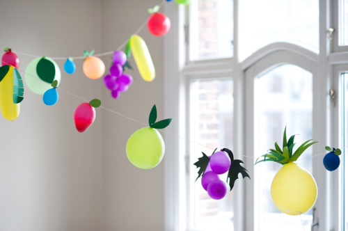 fruit balloons, diy on oh happy day