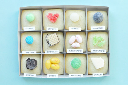 cookies made to look like a rock and mineral collection on  oh happy day
