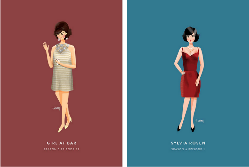 the women of don draper (in honor of the final episodes) by hannah choi