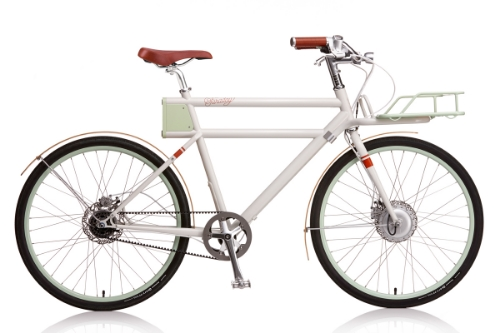 this gorgeous gorgeous gorgeous ELECTRIC bike from faraday porteur
