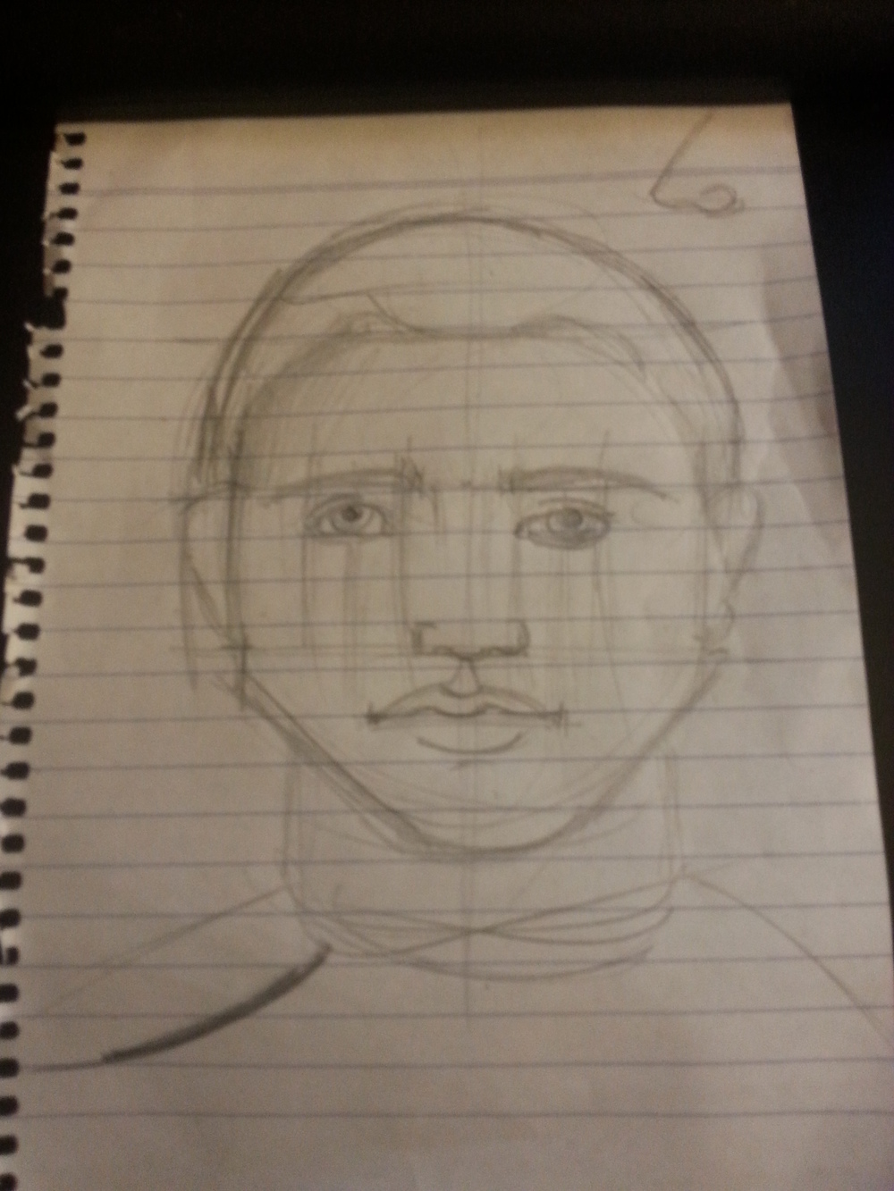 "Everyone, meet Mr. ""Tutorial"". This is the ten-minute introductory portrait mentioned above."