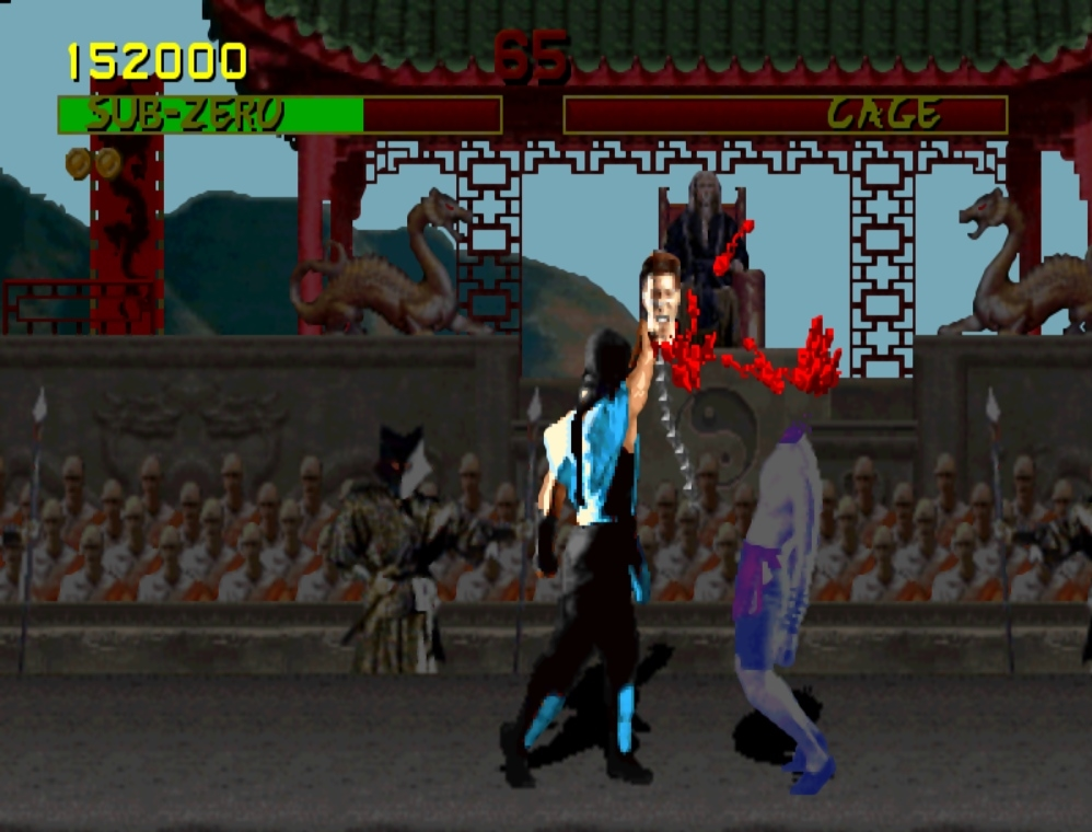 The granddady of violent videogames,  Mortal Kombat . Imagine the necks it turned back in 1992! PUN-ALITY!