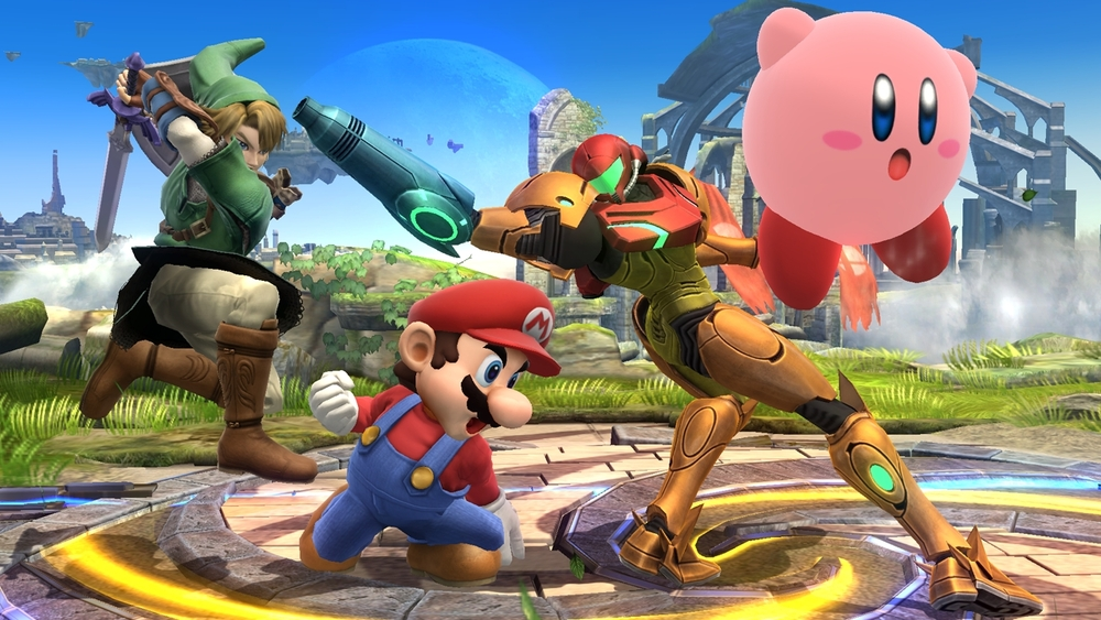 Super Smash Bros.  I call shenanigans! Samus is clearly packing way more heat than the rest in this brawl! BUT... don't count out Kirby just yet!