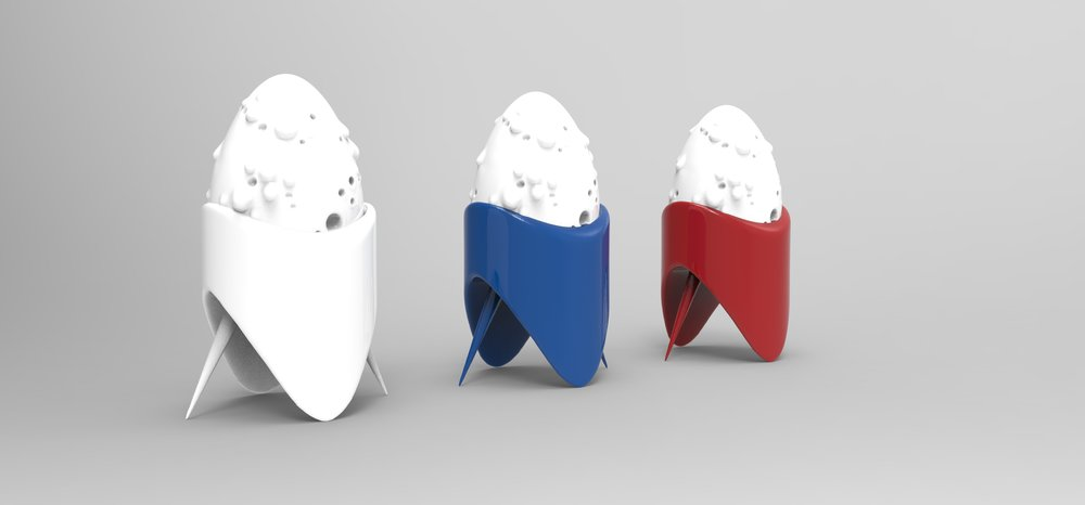 Renders of the Space Egg collection in some basic colors
