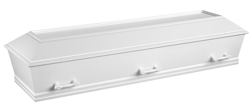 Hvid kiste til kremering (type 9) - 5.995,00 kr