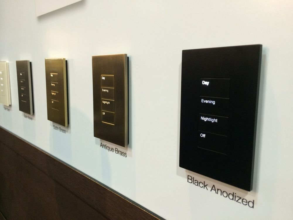 Amazing looking Lutron keypads