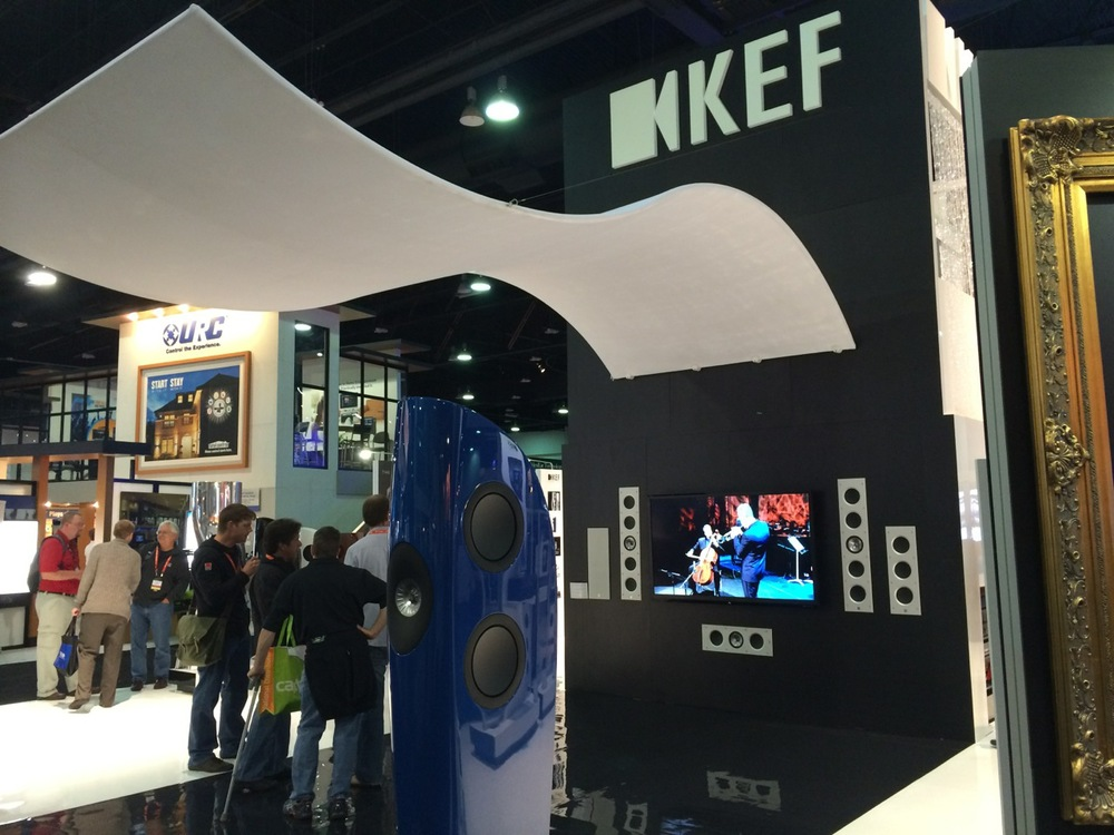 KEF booth was stunning