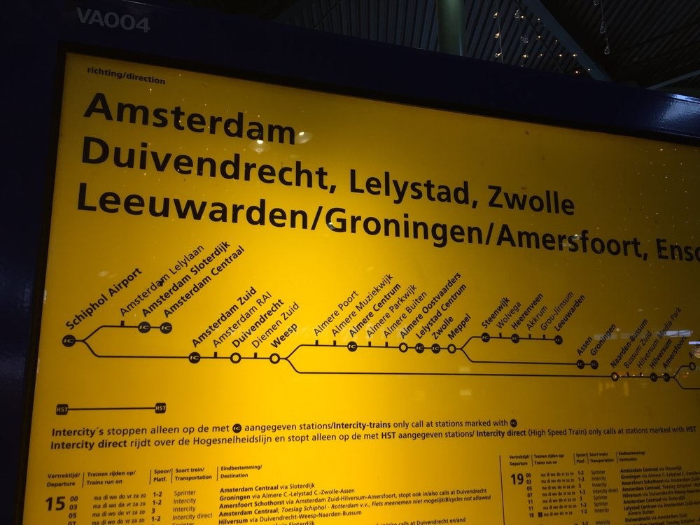 Getting on the train to RAI, Amsterdam