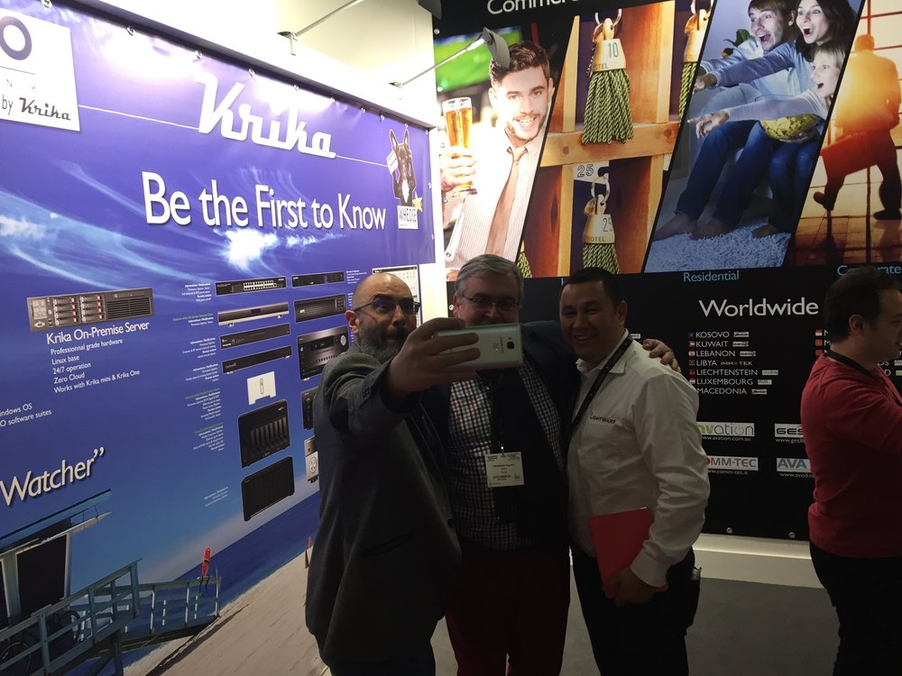 Our friend Bruno from Krika doing his signature selfie