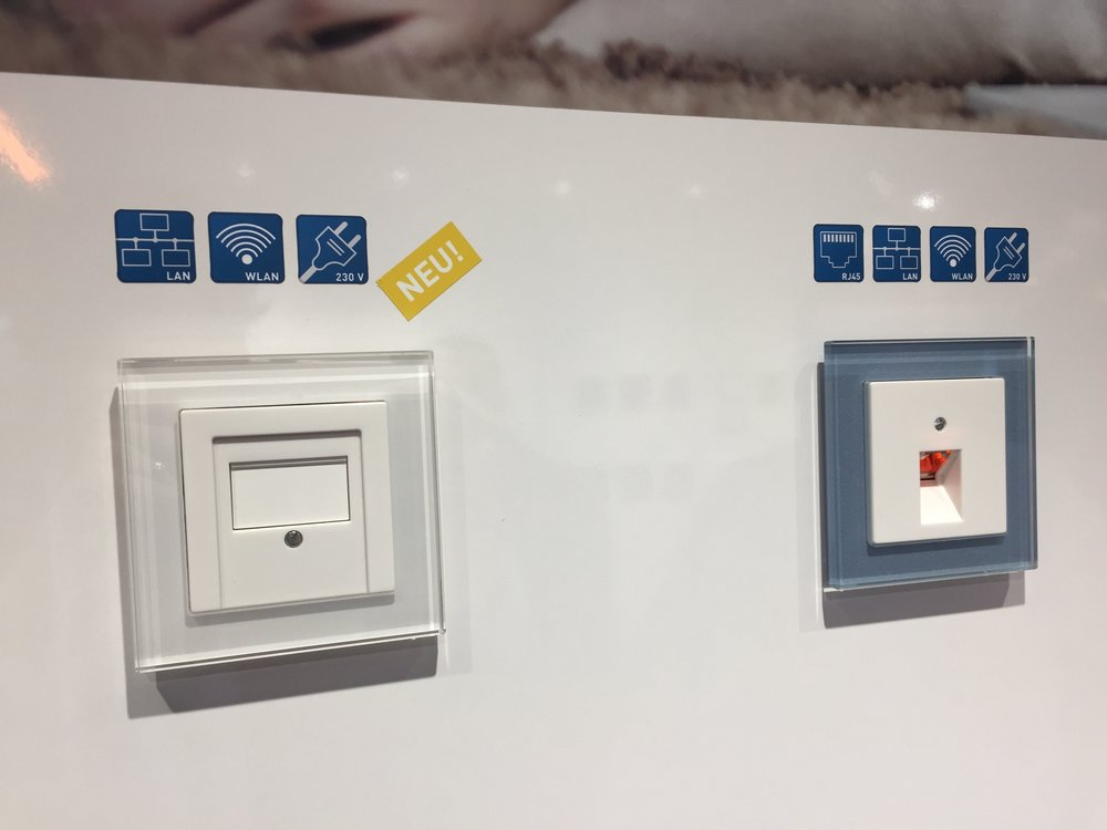 In-wall data jacks that double as WiFi Access Points