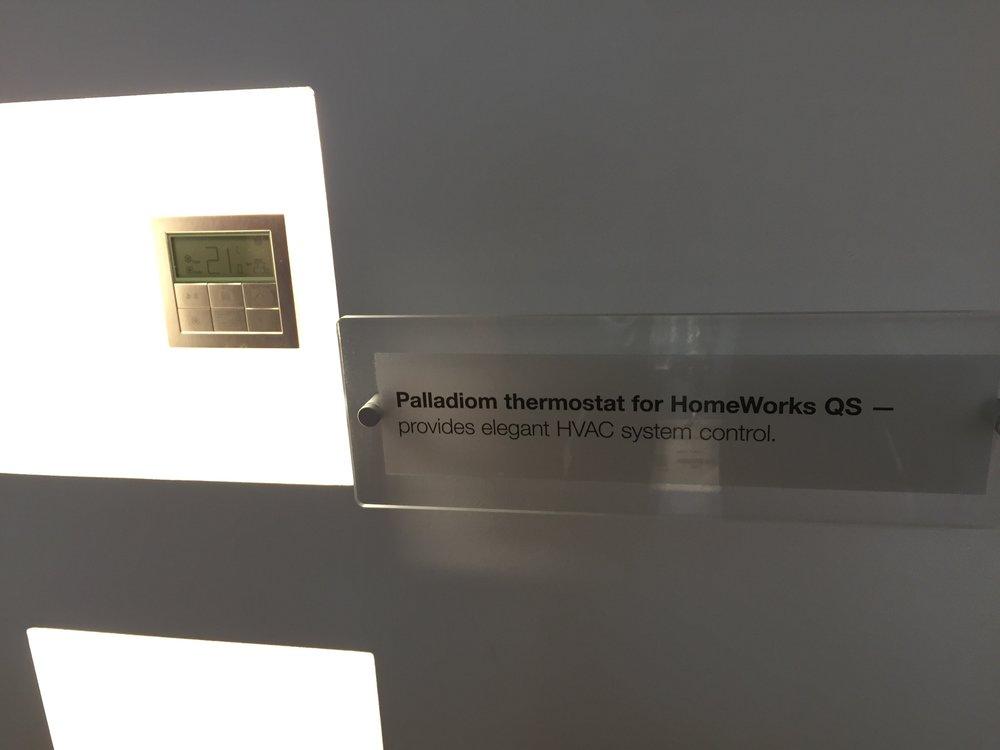 Lutron Palladiom thermostat