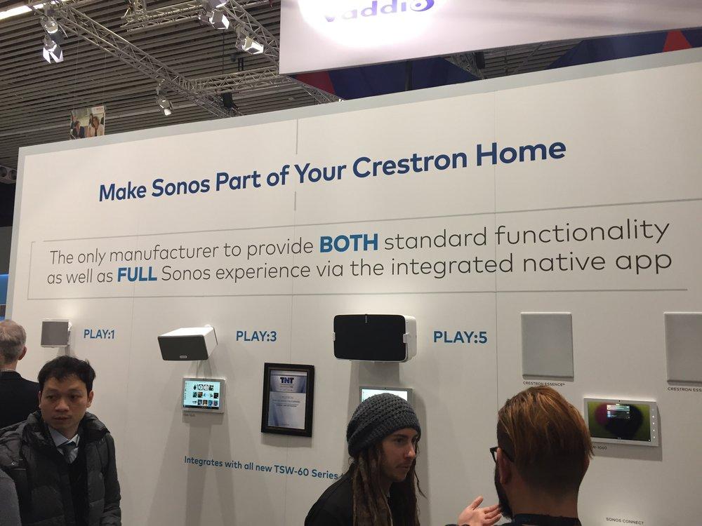 Crestron and Sonos