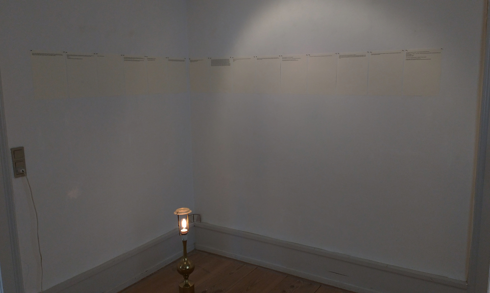 Thoughts on conversion, Room of Tears, 2015, Sophienholm