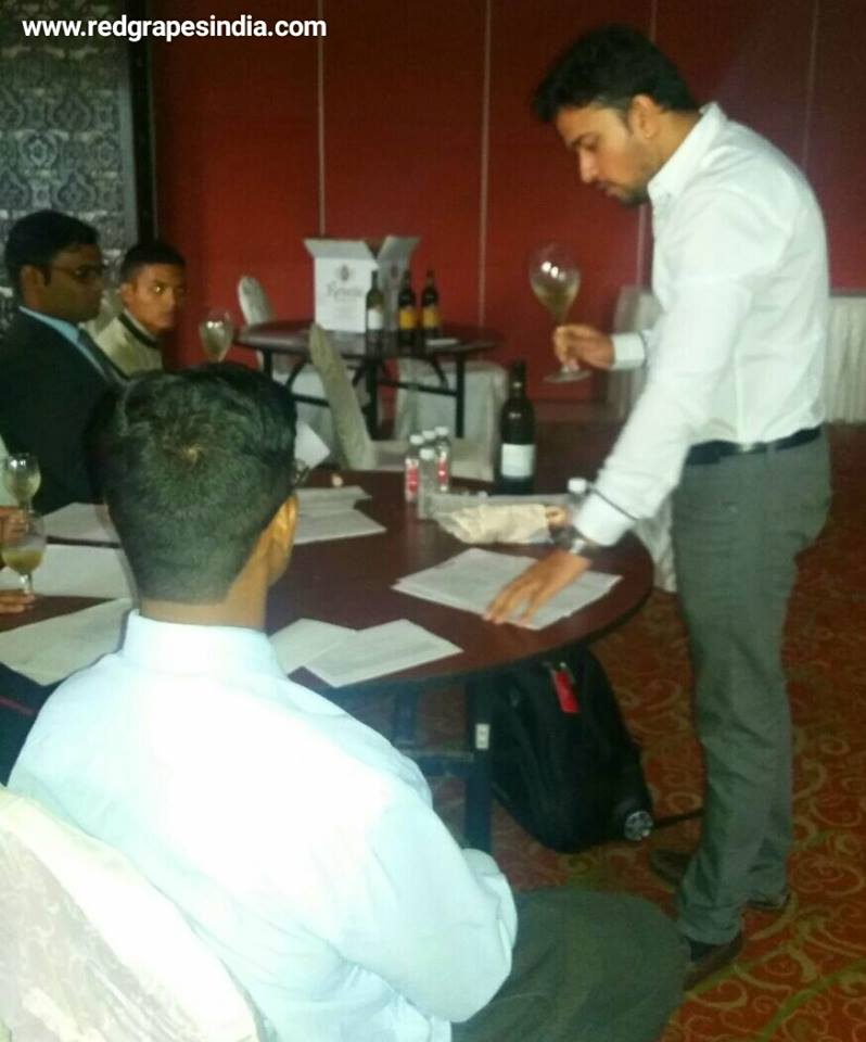 Hotel Express Inn Nashik, F&B staff training on Indian wines by Red Grapes.