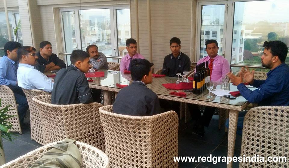 F and B staff training on Wine at SSK Hotel Nashik by Red Grapes
