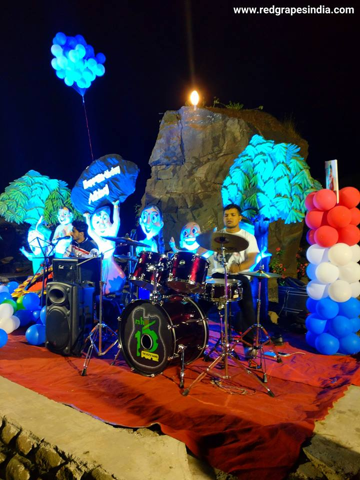 Wine information center is a loved venue for birthday celebration in Nashik, rock band performance at wine park