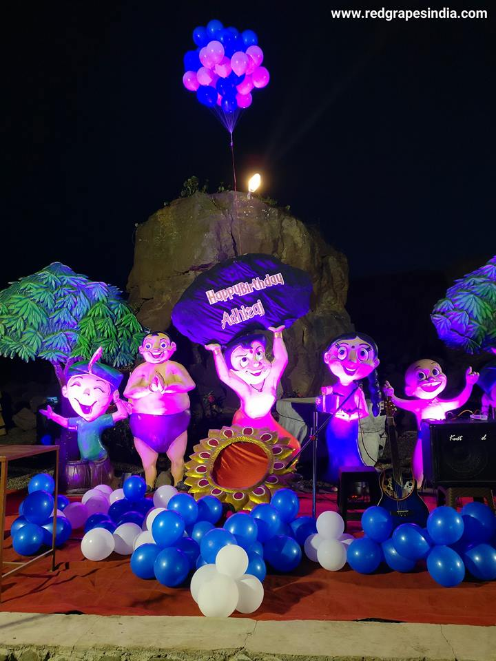 Wine information center is a loved venue for birthday celebration in Nashik. Chota bheem theme