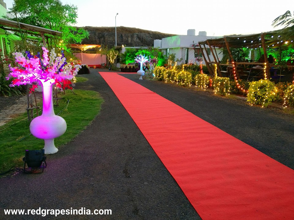 HAL (Hindustan Aeronotical Limited) cultural event at Wine information center by Red Grapes at wine park, vinchur, Nashik.