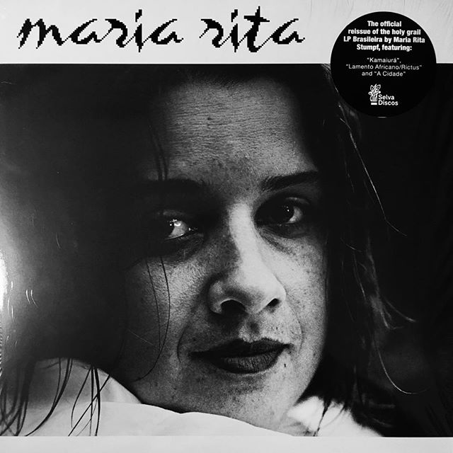 "This is a gorgeous, dark, baroque, tribal, weird, heartfelt and moving record like no other I've heard before. Someone referred to it as ""gothic samba"". For what that definition is worth, I can assure you this is a must listen. Bravo @selvadiscos! ——— #mariaritastumpf #optimomusic #selvadiscos #brasileira #mpb #raremusic #vinyl #vinylrecords #lp #nowplaying #graphicdesign #typography #bitmap #albumartwork #albumart #recordcover #portrait #blackandwhite #bw"